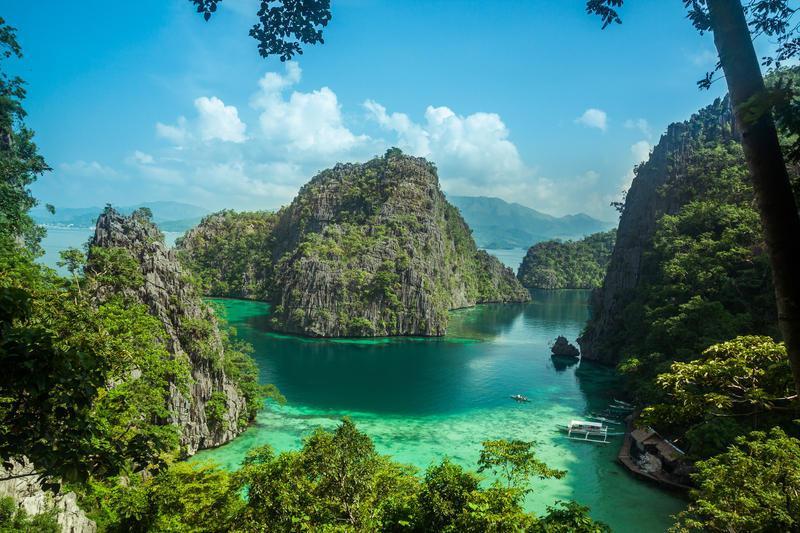 Reise in Philippinen, Bucht auf der Insel Palawan