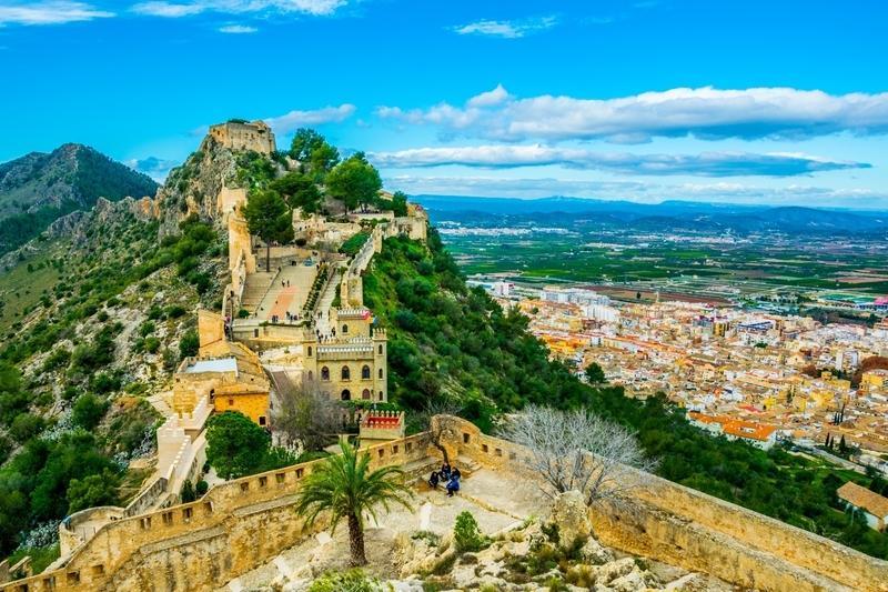 Reise in Spanien, Schloss Xativa bei Alcoy