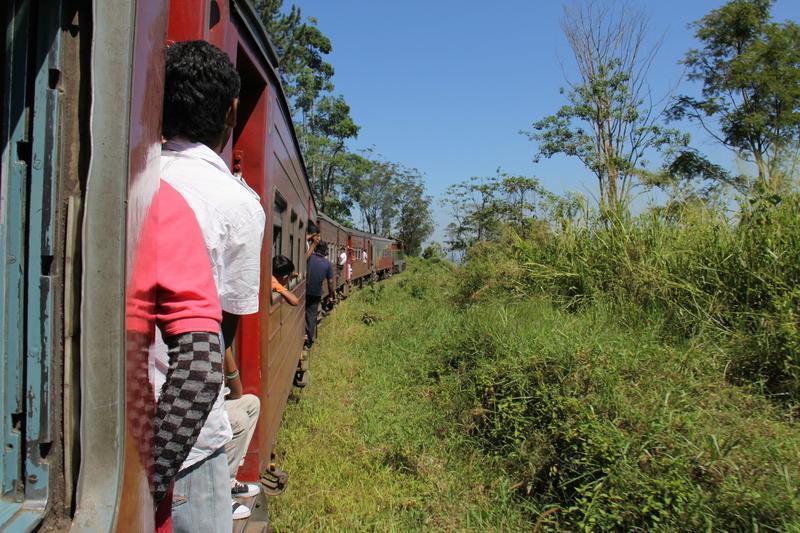 Reise in Sri Lanka, Zugfahrt auf Sri Lanka