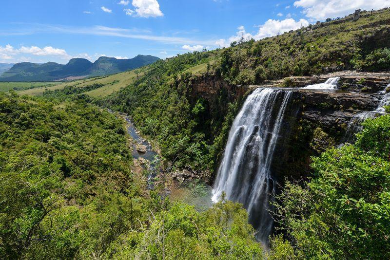 Reise in Südafrika, Wasserfall im östlichen Südafrika
