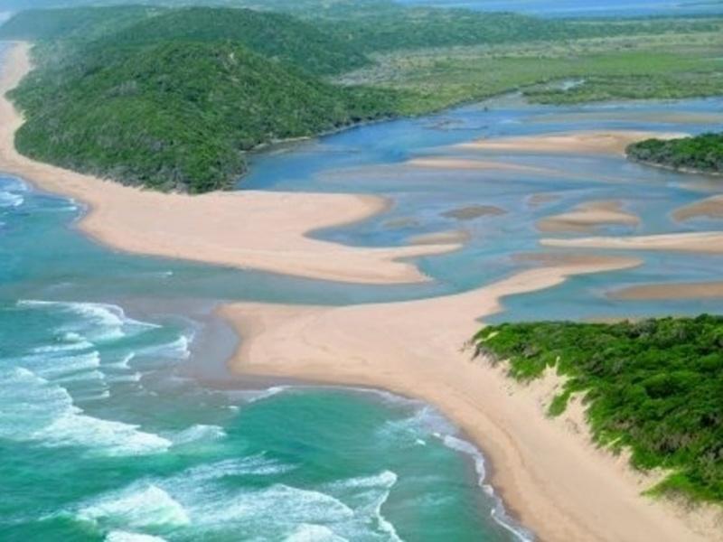 Reise in Südafrika, Lagune im Greater St. Lucia Wetlands Park