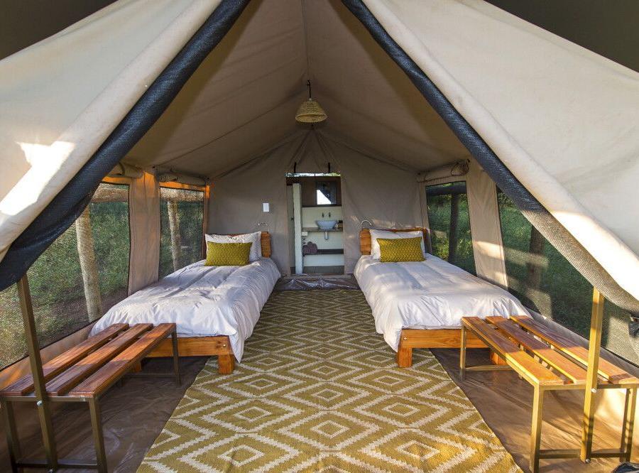 Reise in Südafrika, Zimmerbeispiel von der Zululand Lodge
