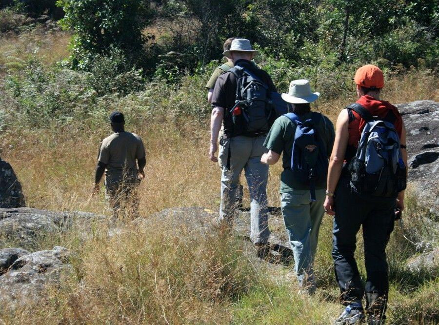 Reise in Südafrika, Auf Fußpirsch