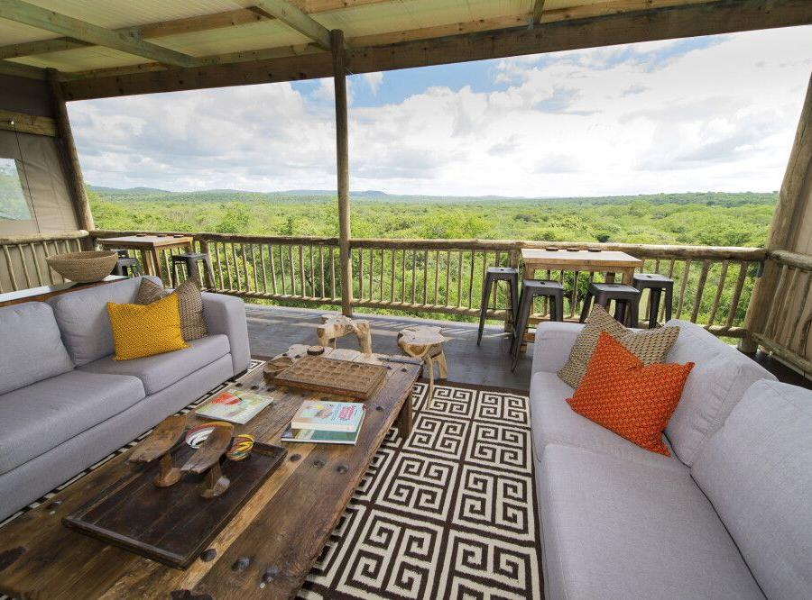 Reise in Südafrika, Blick in die Weite von der Zululand Lodge