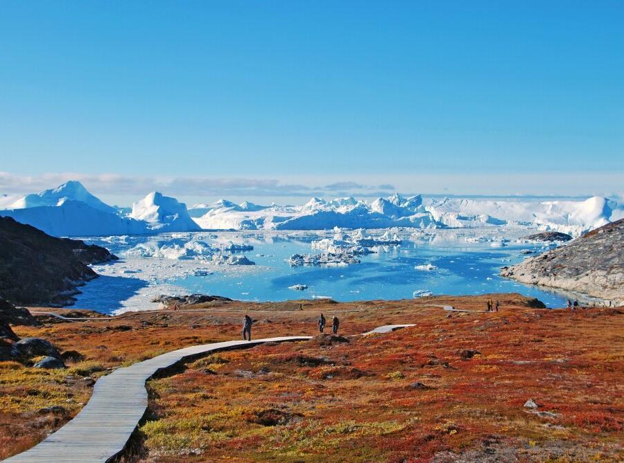 Reise in Grönland, Der Kangia-Fjord mündet in die Diskobucht