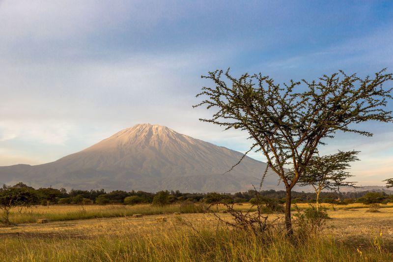 Reise in Tansania, Mount Meru bei Arusha in Tansania