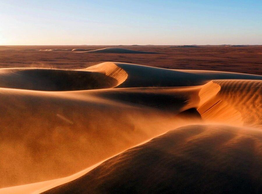 Reise in Tschad, Wüstenlandschaft im Tschad