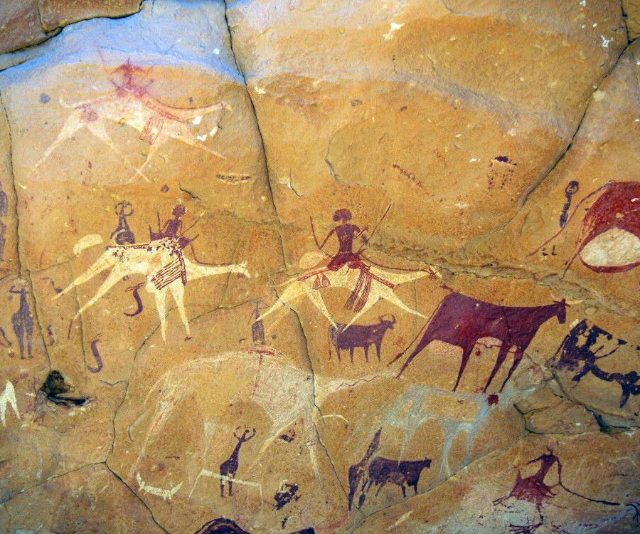Reise in Tschad, Felsenmalerei