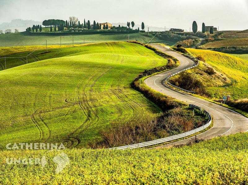Reise in Italien, Berühmte Landschaften der Toskana