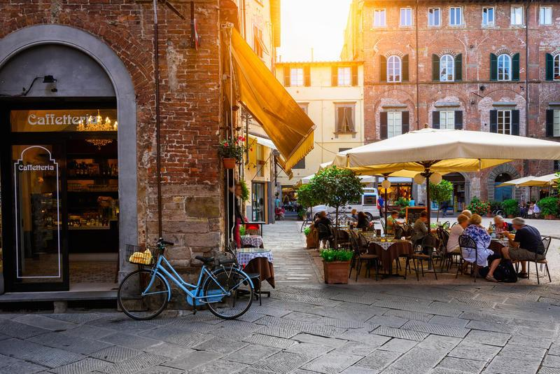 Reise in Italien, Gemütlich durch Lucca schlendern