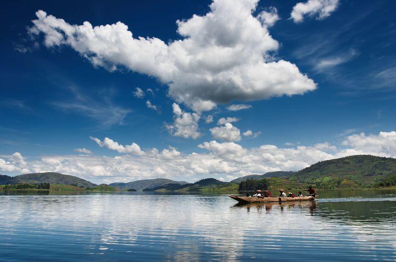 Reise in Uganda, Entspannung am Bunyonyi See in Uganda