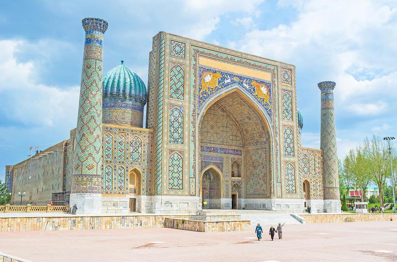 Reise in Usbekistan, Bunte Mosaike auf Reisen in Samarkand