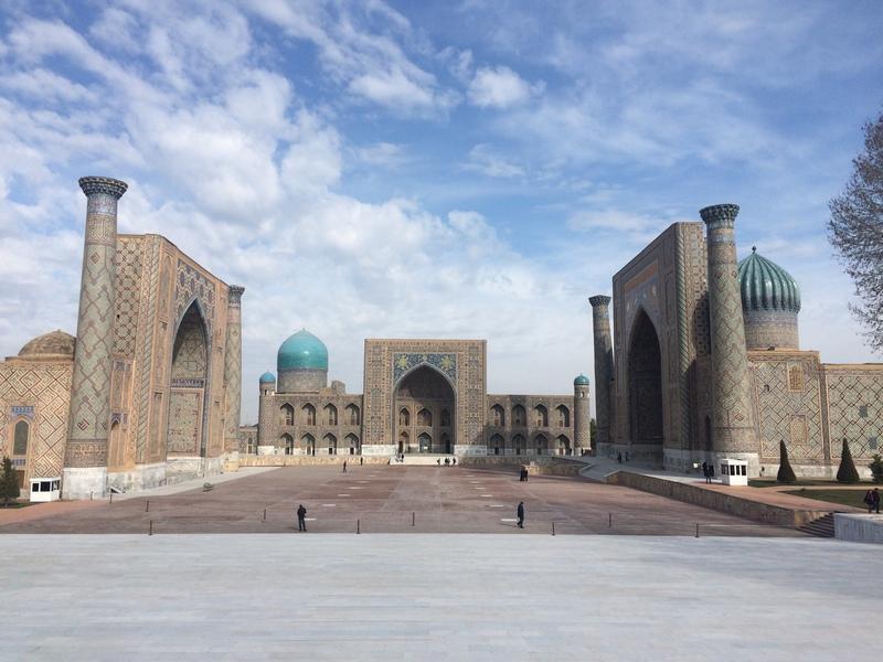 Reise in Usbekistan, Registanplatz in Samarkand