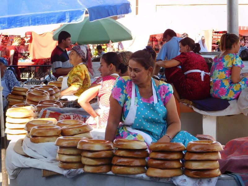 Reise in Usbekistan, Basarbesuch in Samarkand