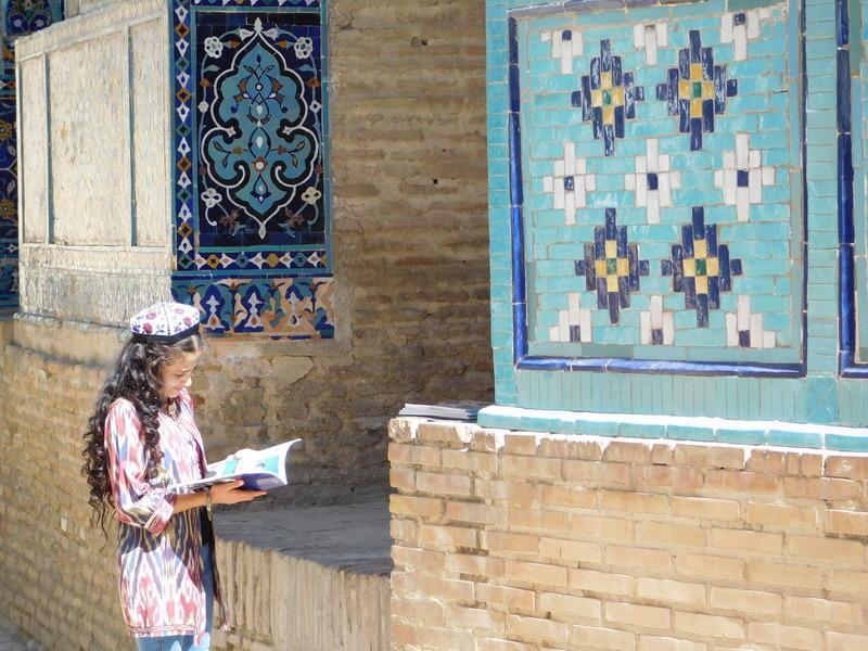 Reise in Usbekistan, Mädchen in Samarkand