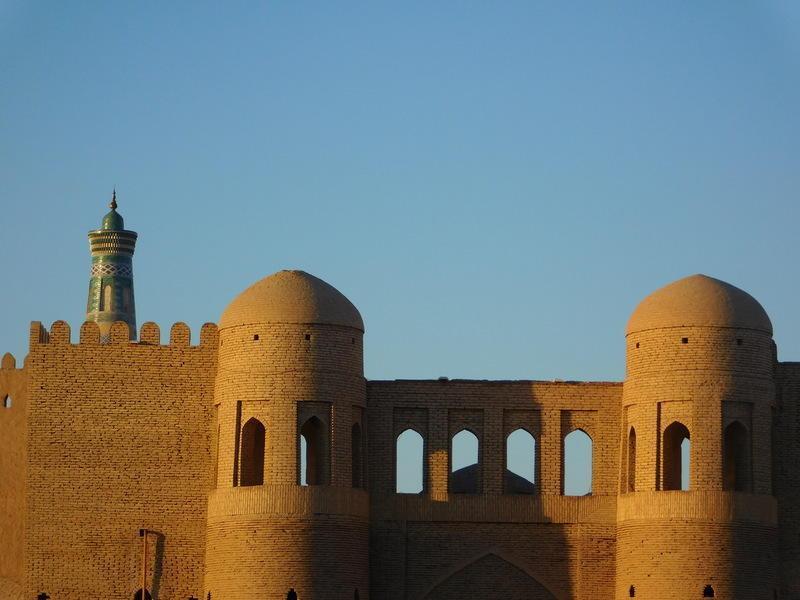Reise in Usbekistan, Stadtmauer von Chiwa in Usbekistan