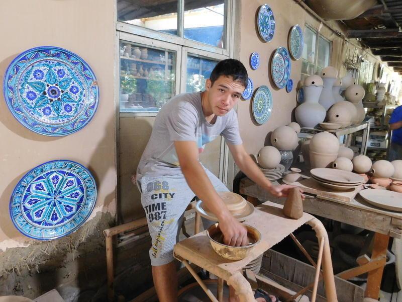 Reise in Usbekistan, Töpferei in Rishtan - Ferganatal