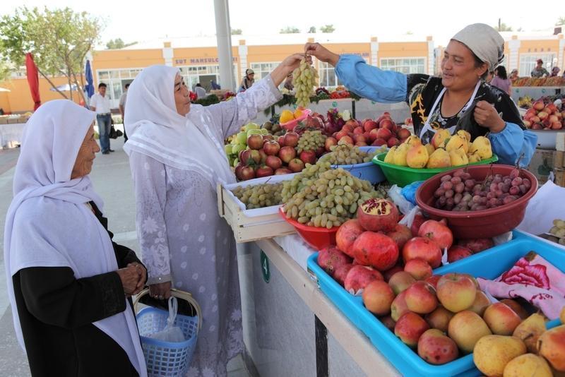 Reise in Usbekistan, Marktleben in Samarkand
