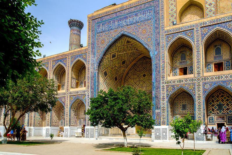 Reise in Usbekistan, Mosaike in Samarkand