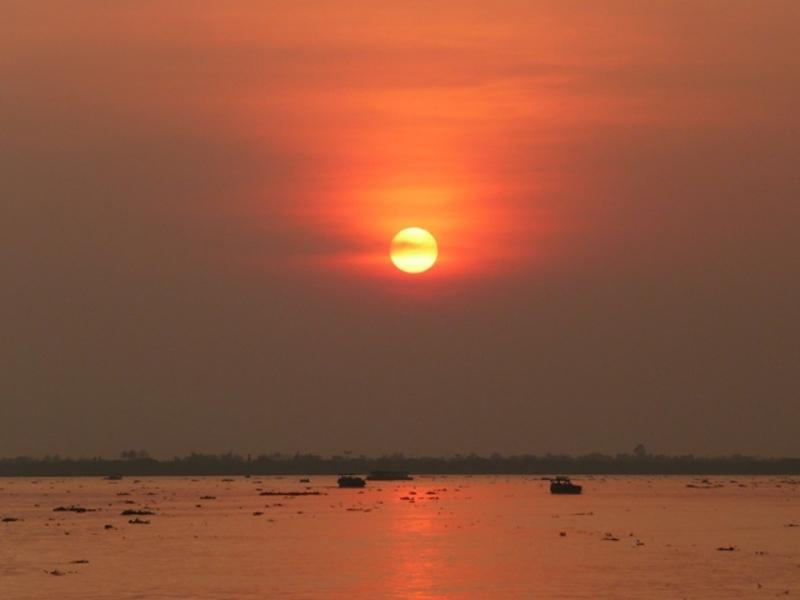 Reise in Vietnam, Vietnam Sonnenuntergang