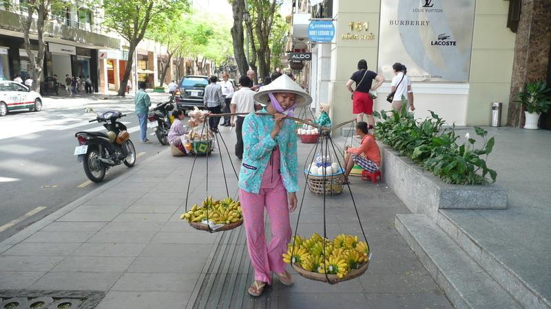 Reise in Vietnam, Saigon Markt & Straße