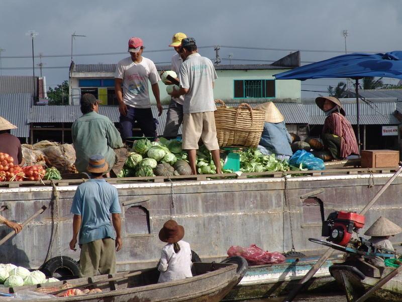 Reise in Vietnam, Vietnam: Schwimmender Markt von Cai Rang