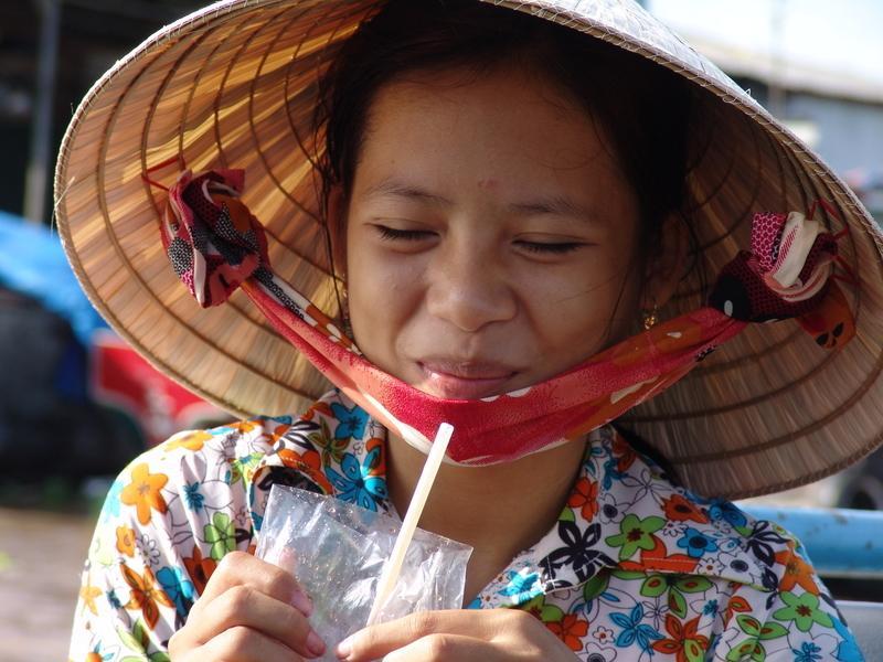 Reise in Vietnam, Freundliche Begegnung im Mekongdelta
