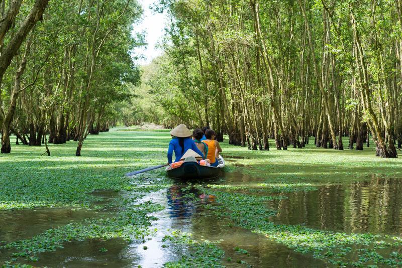Reise in Vietnam, Bootsfahrt im Mekongdelta Tra Su