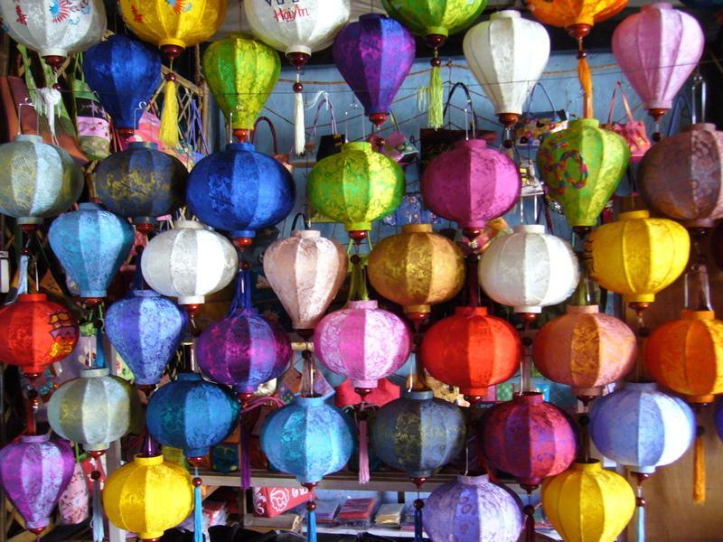 Reise in Vietnam, Bunte Lampions bei Hoi An
