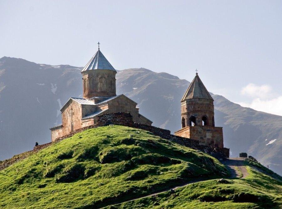 Reise in Armenien, Dreifaltigkeitskirche von Gergeti Zminda Sameba
