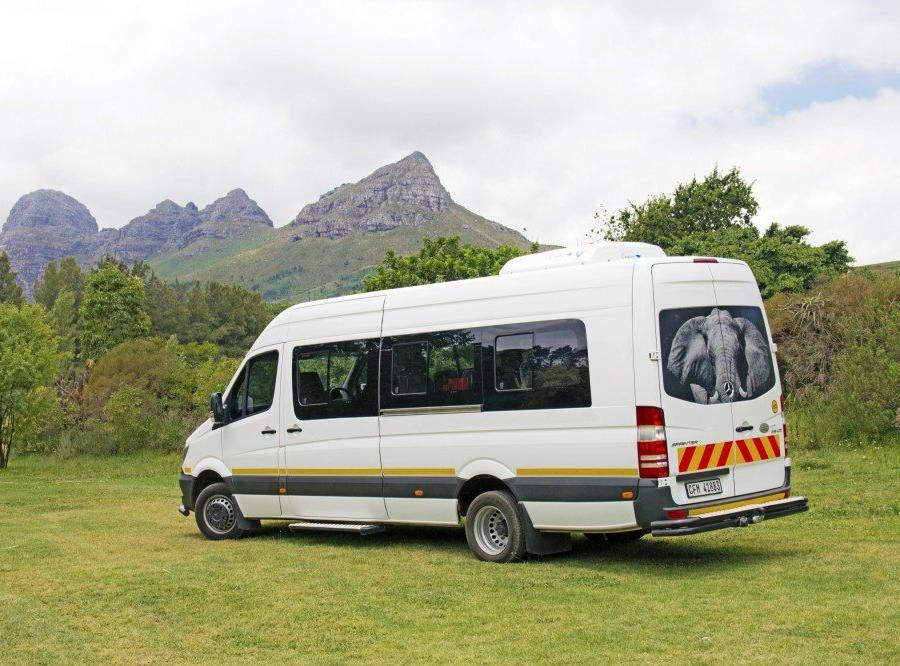 Reise in Südafrika, Fahrzeug während der Rundreise: Mecedes Sprinter