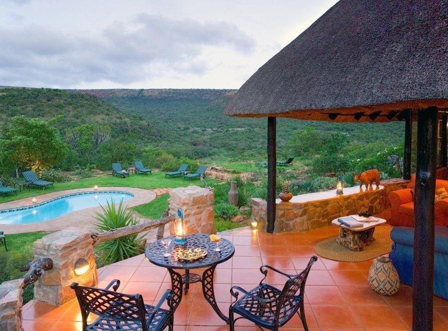 Reise in Südafrika, Blick von Terrasse der Iketla Lodge
