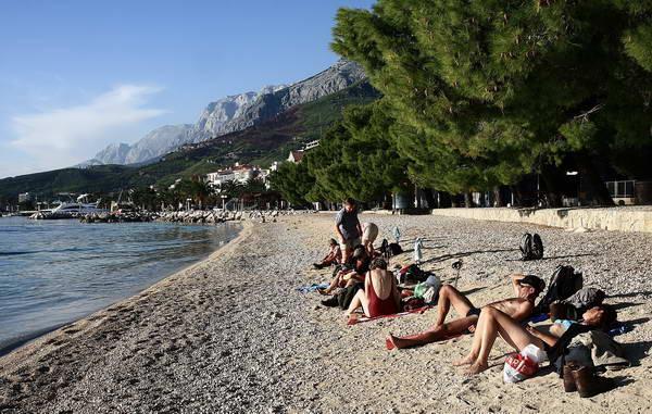 Reise in Kroatien, Badetag bei Omis, dem zweiten Unterkunftsort