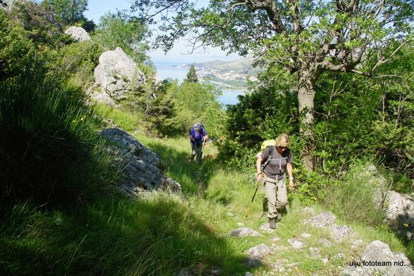 Reise in Kroatien, Wanderung durch üppig-grüne Natur im Frühjahr