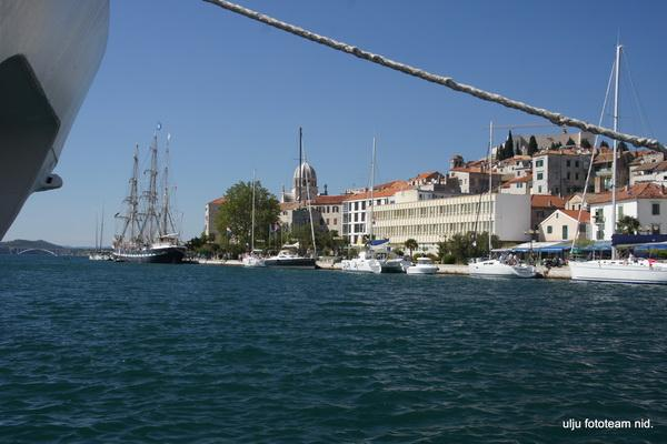 Reise in Kroatien, Besuch der Hafenstadt Sibenik an der Mündung der Krka
