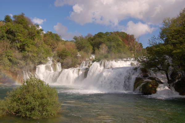 Reise in Kroatien, An den spektakulären Krka-Wasserfällen