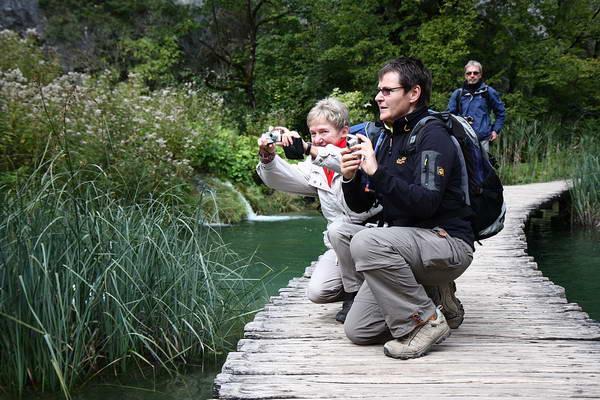Reise in Kroatien, Fotoshooting an den Plitvicer Seen
