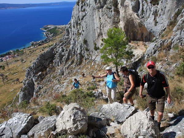 Reise in Kroatien, Wanderung im dalmatinischen Küstengebirge bei Omis