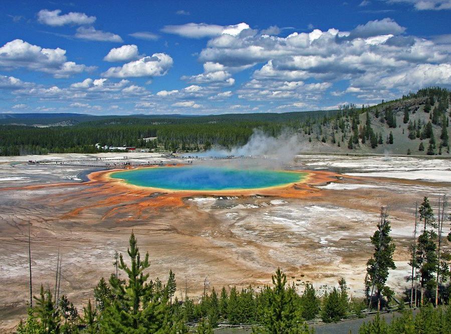 Reise in Vereinigte Staaten von Amerika, Grand Prismatic Spring, Yellowstone National Park, Wyoming