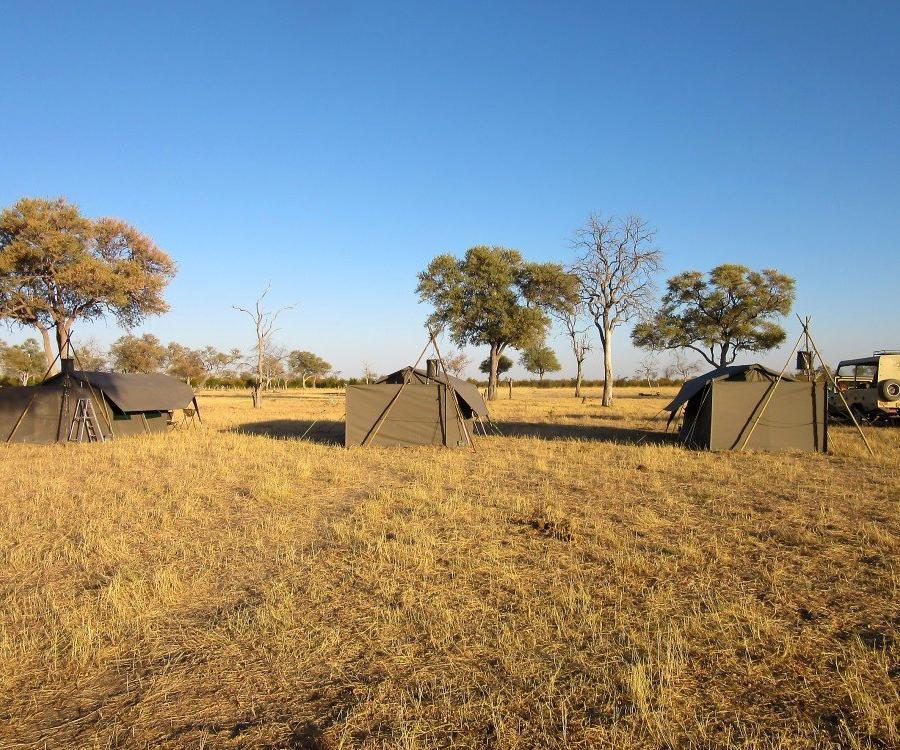 Reise in Botswana, Zeltcamp im Savuti
