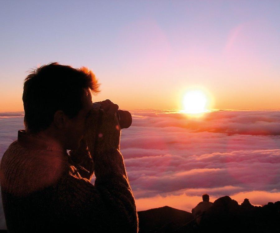 Reise in Madagaskar, Sonnenaufgang am PIton de la Neige