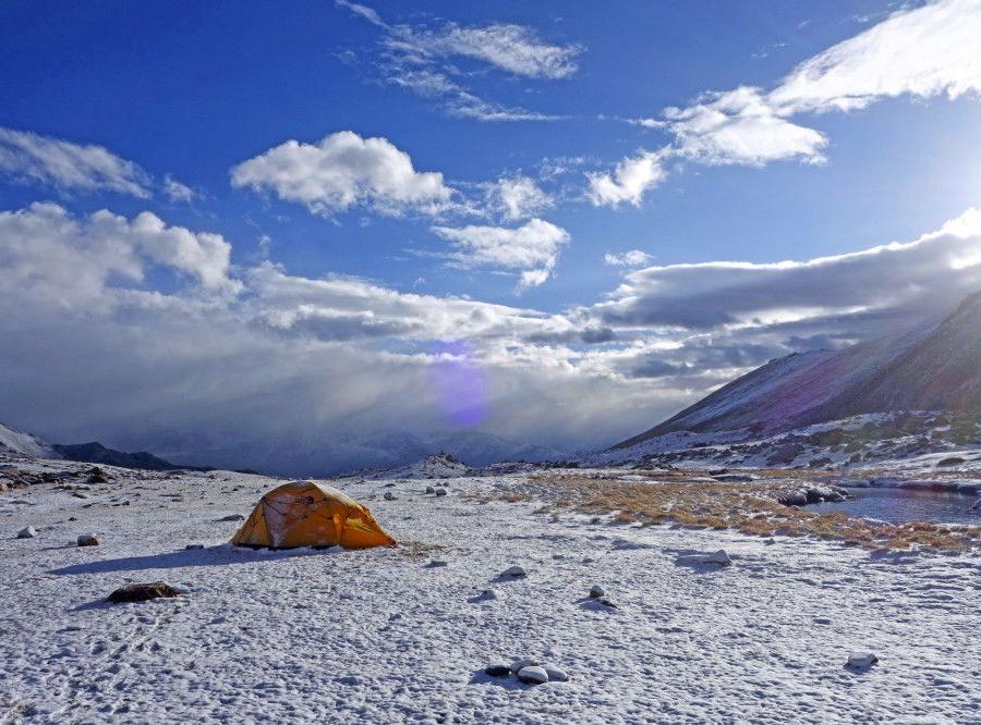 Reise in Indien, Passhöhe Diggar La (5400m)
