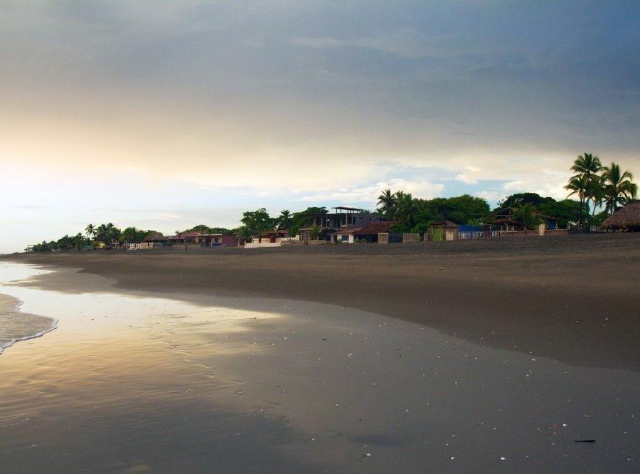 Reise in Nicaragua, Strand Las Peñitas